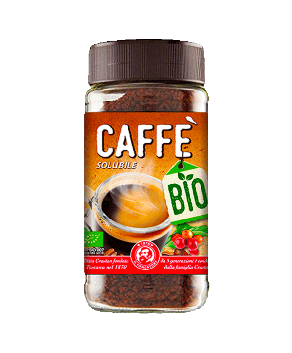caffè solubile biologico crastan