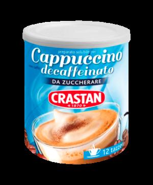 cappuccino solubile decaffeinato da zuccherare crastan
