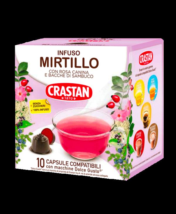 capsule infuso mirtillo compatibili dolce gusto crastan
