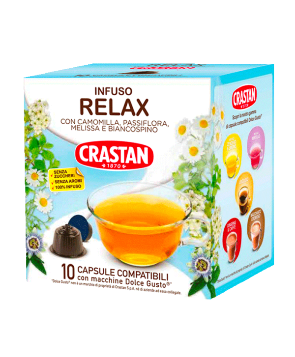 capsule infuso relax compatibili dolce gusto crastan
