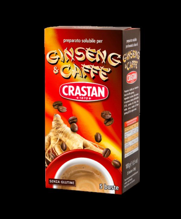 ginseng e caffè zuccherato solubile crastan